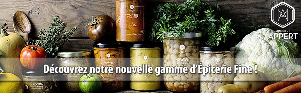 Découvrez notre nouvelle gamme d'épicerie fine : Monsieur Appert !