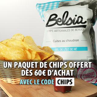 UN PAQUET DE CHIPS OFFERT DES 60€ D'ACHATS