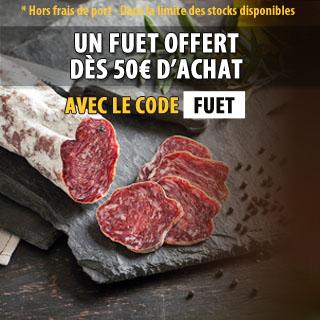 Un Fuet Offert dès 50€ d'achats avec le code FUET
