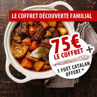 Le coffret découverte familial - 75€ le coffret + un Fuet Catalan offert !