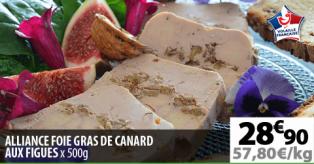 ALLIANCE FOIE GRAS DE CANARD AUX FIGUES X500G