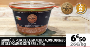 MIJOTÉ DE PORC DE LA MANCHE FACON COLOMBO ET SES POMMES DE TERRE