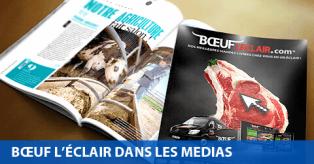 Bœuf l'Éclair dans les médias