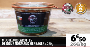 MIJOTE AUX CAROTES DE BOEUF NORMAND HERBAGER
